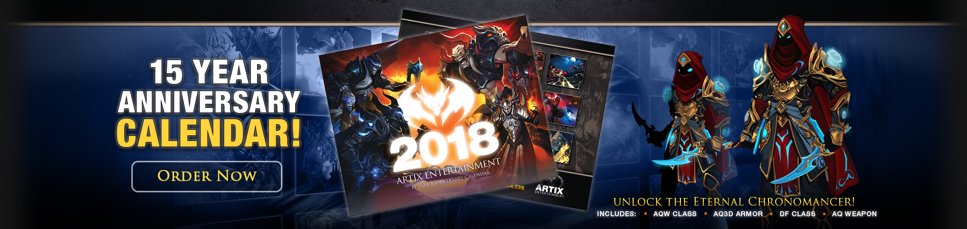 2018 Artix Entertainment Calendar