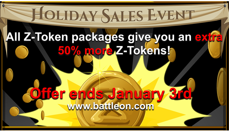 Z-Token Sale + 2 new Z-Token Packages!