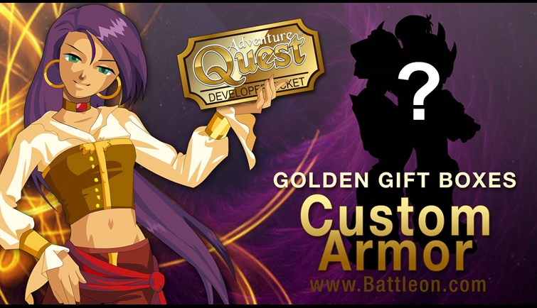 Custom Armor Golden Developer Ticket