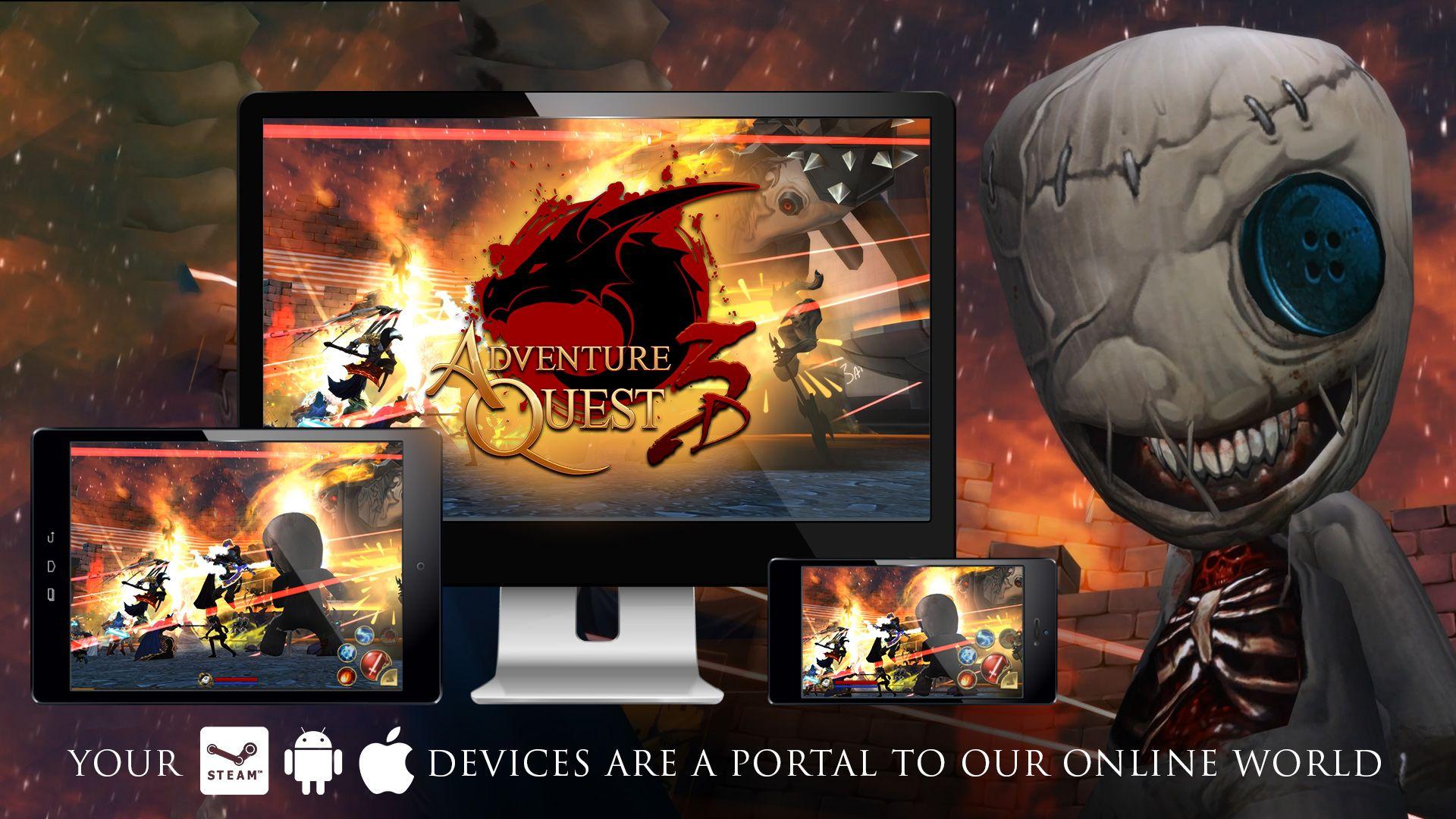 AdventureQuest 3D is a cross-platform MMORPG