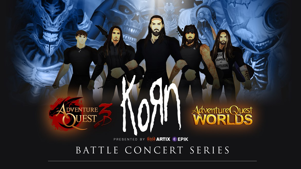 Korn's Digital Avatars for AdventureQuest 3D