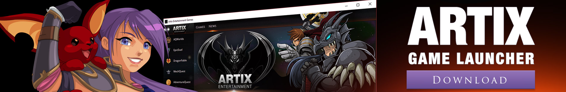 Artix Game Launcher