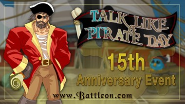 Talk Like a Pirate Day 15th Anniversary Event