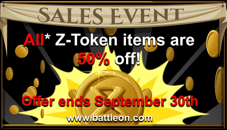50% Off Z-Token Sale