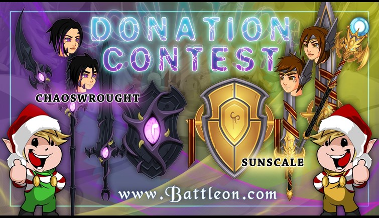 Donation Contest Begins