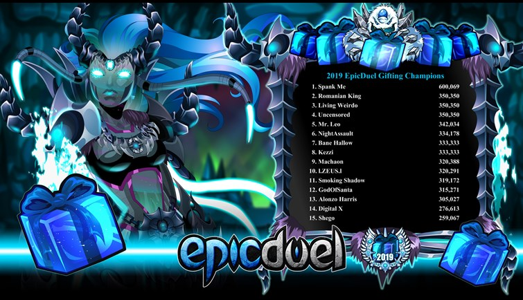 EpicDuel Gifting 2019 Ends