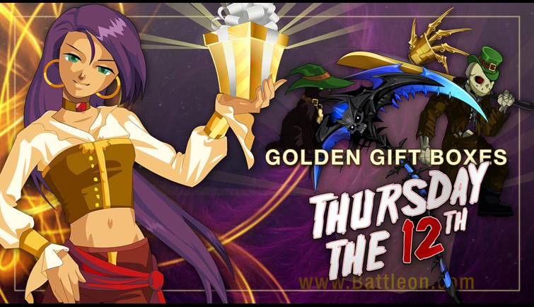 Holiday Crossover Golden Giftboxes