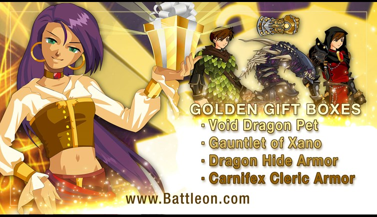May Twisted Golden Giftboxes
