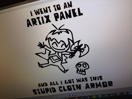 DragonCon shirt artix panel