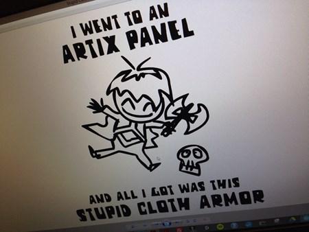 DragonCon shirt artix panel