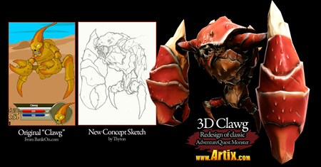 AQ3D The Clawg